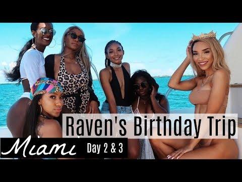 RAVEN ELYSE'S MIAMI BIRTHDAY TRIP,  YACHT LIFE & FRENCH MONTANA,  DAY 2 & 3  | Brittany Daniel