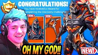 "NINJA UNLOCKS THE 'NEW' GRATUIT ""FIRE RUIN"" SKIN! (SEMAINE 8) - DÉFIS! Moments Fortnite DE LEGENDARY"