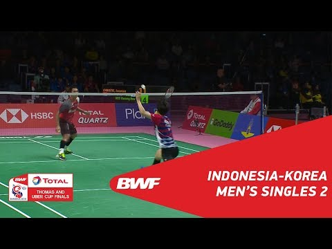 Thomas Cup | MS2 | Jonatan CHRISTIE (INA) vs HEO Kwang Hee (