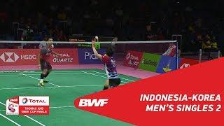 Thomas Cup | MS2 | Jonatan CHRISTIE (INA) vs HEO Kwang Hee (KOR) | BWF 2018