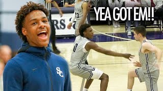 Zapętlaj Bronny James Sierra Canyon Squad GOES OFF On His Old School Crossroads! | qwik11hoops