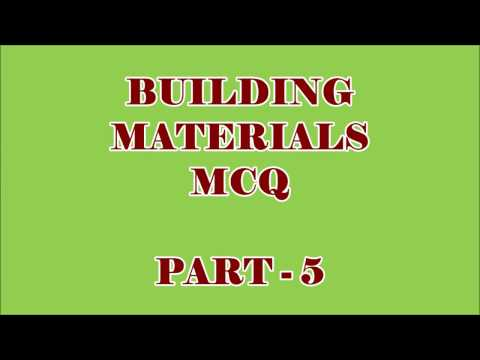 CIVIL ENGG MCQ || BUILDING MATERIALS 75 OBJECTIVE QUESTIONS AND ANSWERS || PART - 5
