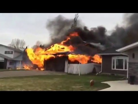 Eyewitness Video of Swift Current House Fire
