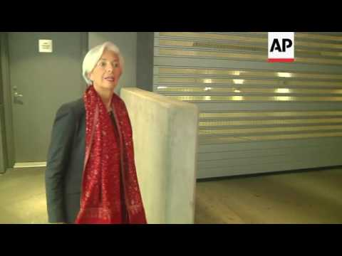 Lagarde: 'I'm Going to Work'