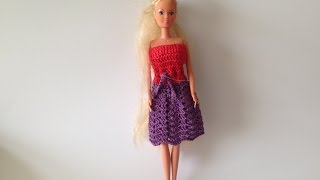 How To Crochet Barbie Dress Motif 1
