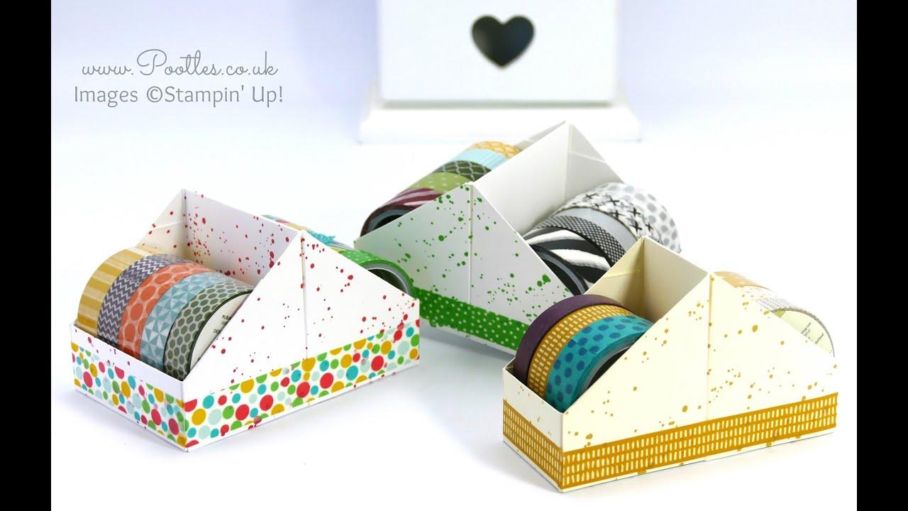 washi tape holder tutorial using stampin 39 up supplies youtube. Black Bedroom Furniture Sets. Home Design Ideas