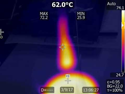 Thermal Camera Footage of Hot Cup of Water and Me Putting My Finger In It