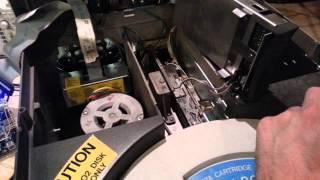 Vintage DEC RL-02 hard disk spin-up