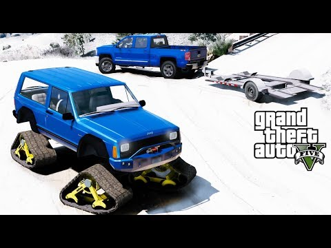 GTA 5 REAL LIFE MOD - ANOTHER DAY AT WORK #40 Off Roading Challenge In A Jeep Cherokee XJ Snow Hawk