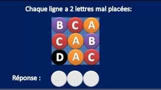 Test n°1 Les carrés logiques - Astuces test psychotechnique et logique