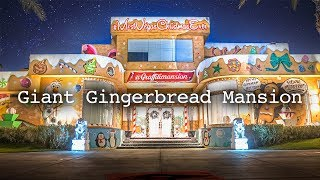 Spray painting an entire multi-million dollar mansion into a giant gingerbread house.