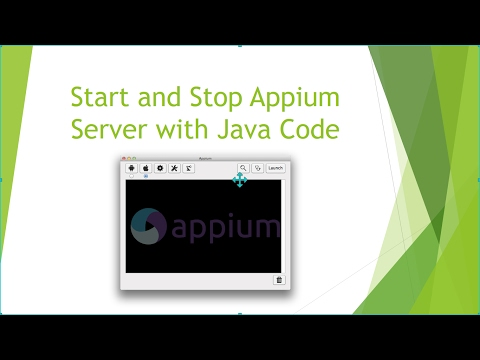 How to Start Appium Server using Java Code? ~ QA Automated