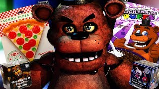 REAL LIFE FREDDY FAZBEARS PIZZA!   FNAF ULTIMATE MYSTERY BOX UNBOXING (EXCLUSIVE)