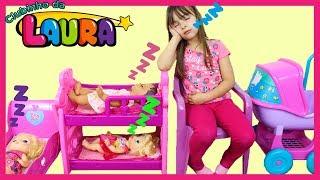 LAURINHA BRINCANDO DE BABÁ DE BONECAS! KIDS PRETEND PLAY WITH TOYS ARE YOU SLEEPING BROTHER JOHN