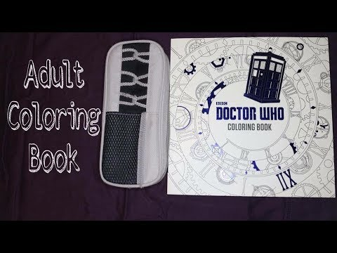 Doctor Who Adult Coloring Book Time Lapse Part 1