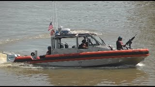 US Coast Guard intercepting small boat, Savannah GA 4/11/17