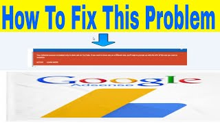 Google Adsense Problem Fix || Your Adsense Account Is Enabled Only To Show Ads On Youtube