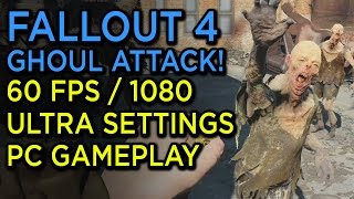 Fallout 4 Feral Ghouls Attack - 1080p/60fps Ultra Settings PC Gameplay