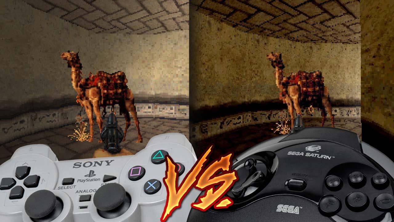 Playstation Vs Sega Saturn Powerslave Youtube