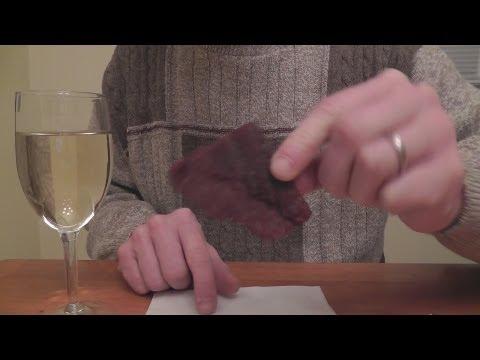ASMR Wine Review 1 - Robert Mondavi Pinot Grigio & Beef Jerky