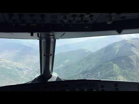 Plane Landing at Paro Airport of Bhutan