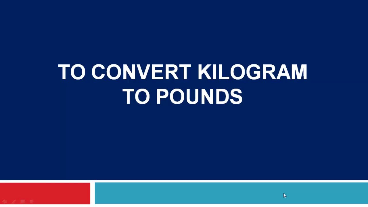 To convert kilogram to pounds youtube nvjuhfo Choice Image