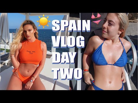 BIKINIS, WEDDINGS, COCKTAILS | SPAIN DAY 2 | SYD AND ELL