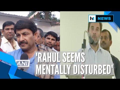 'Mentally Disturbed': Manoj Tiwari On Rahul Gandhi's 'rape Capital' Remark