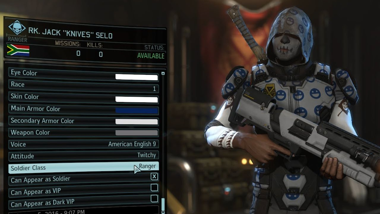 XCOM 2 gameplay character customization