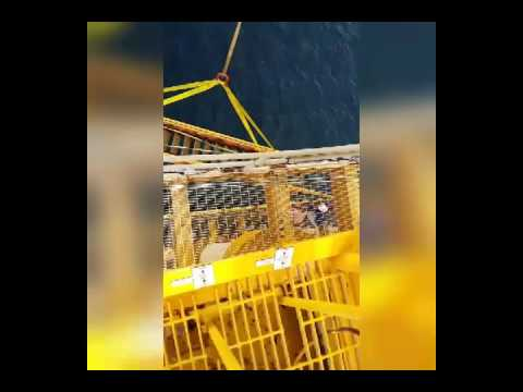 Offshore stairway repair part 1