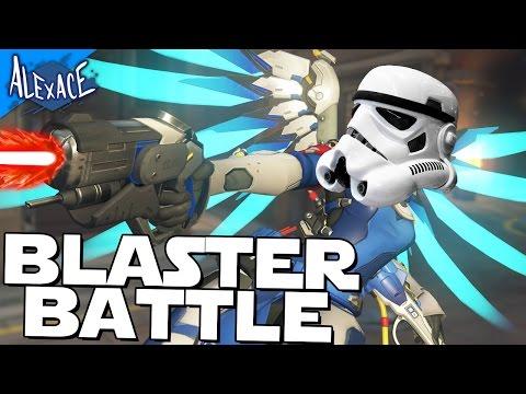 THE MERCY STAR WARS BLASTER BATTLE!? l OVERWATCH CUSTOM GAMEMODE!