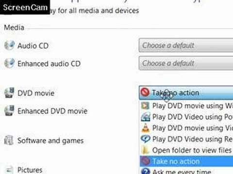 How To Disable CD DVD Autoplay In Microsoft Vista?