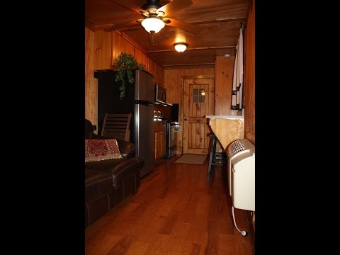 SOLD. Hunting Cabin 4 Sale, Shipping Container Living, RV, Tiny House, Hunter Camp