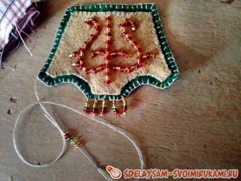 Сделать брелок в якутском национальном стиле