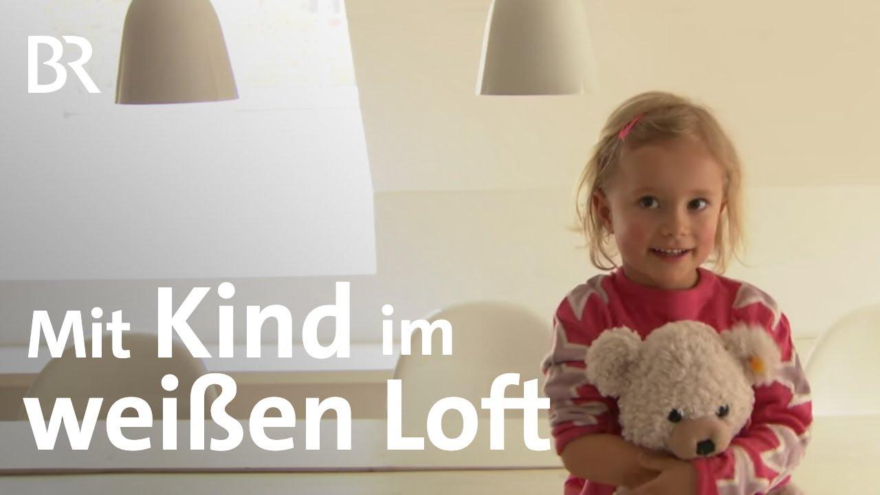 wohnungsbummel ganz in wei wie kindertauglich ist ein loft br fernsehen youtube. Black Bedroom Furniture Sets. Home Design Ideas