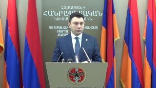 ՀՀԿ ԳՄ նիստից հետո  Շարմազանովը պատասխանում է հարցերին