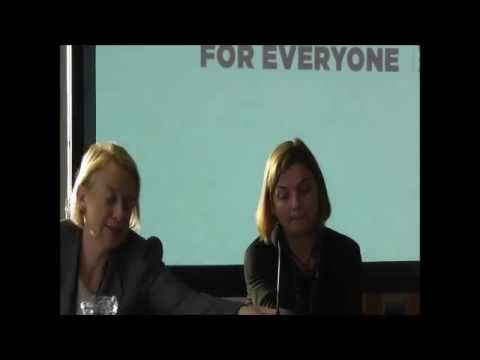 GREEN PARTY FRINGE MEETING at TUC Congress 2015: Natalie Bennett & Sally Hunt (UCU)