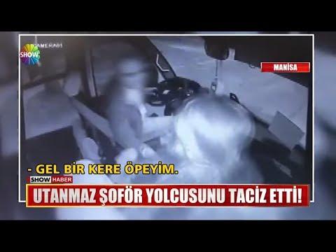 Utanmaz şoför yolcusunu taciz etti!