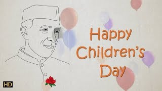 Easy Chacha Nehru Drawing for Kids | Children
