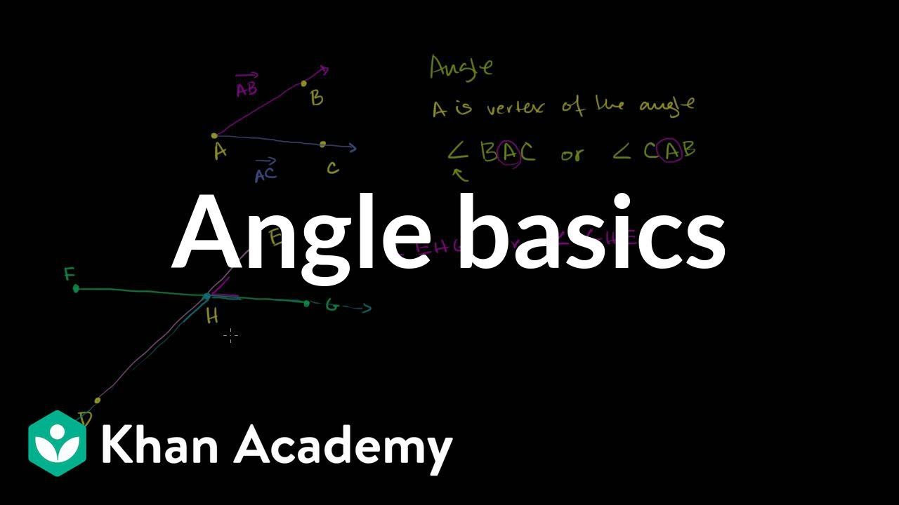 medium resolution of Angles: introduction (video)   Geometry   Khan Academy