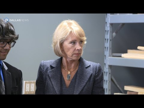 Secretary of Education Betsy DeVos visits Birdville ISD