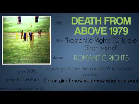 Death from Above 1979 - Romantic Rights (Girls are Short remix) (synced lyrics)