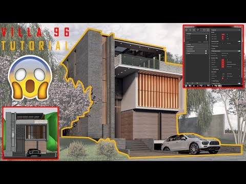Villa 96: modeling, materials, Vray Settings & Landscape