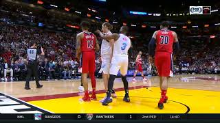 Dwyane Wade Gets Technical Foul For Poking Kelly Oubre Jr! Heat vs Wizards!