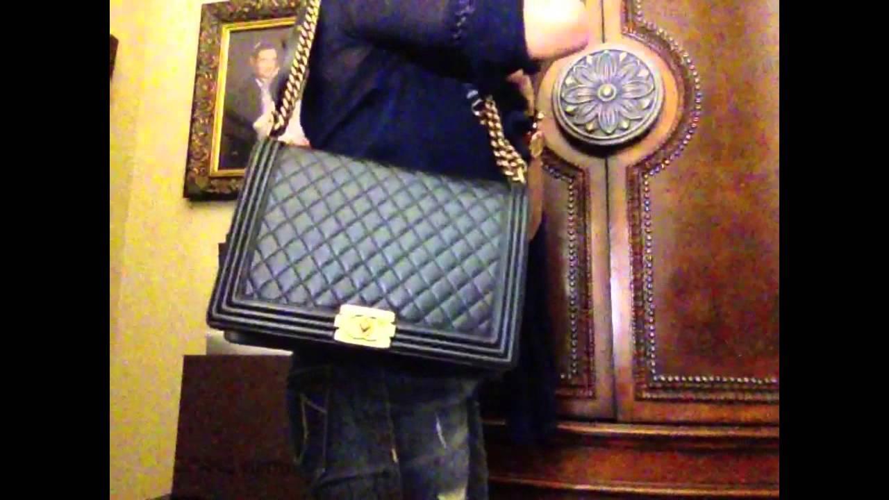ca59668c4639 Chanel Pantent Calfskin Boy Unboxing Medium Size - YouTube
