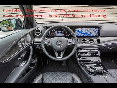 HowToDo service menu and reset on mercedes benz w213 sedan and touring