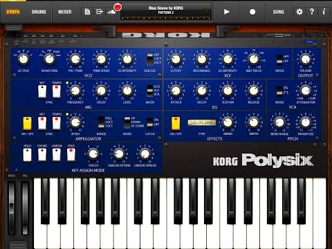 KORG iPolysix - Surfing ALL The Presets - Great Synth - Demo for the iPad