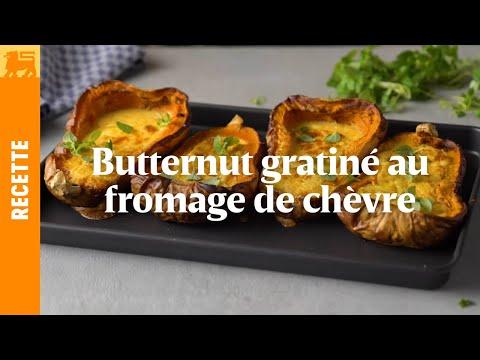 Butternut gratiné au fromage de chèvre frais