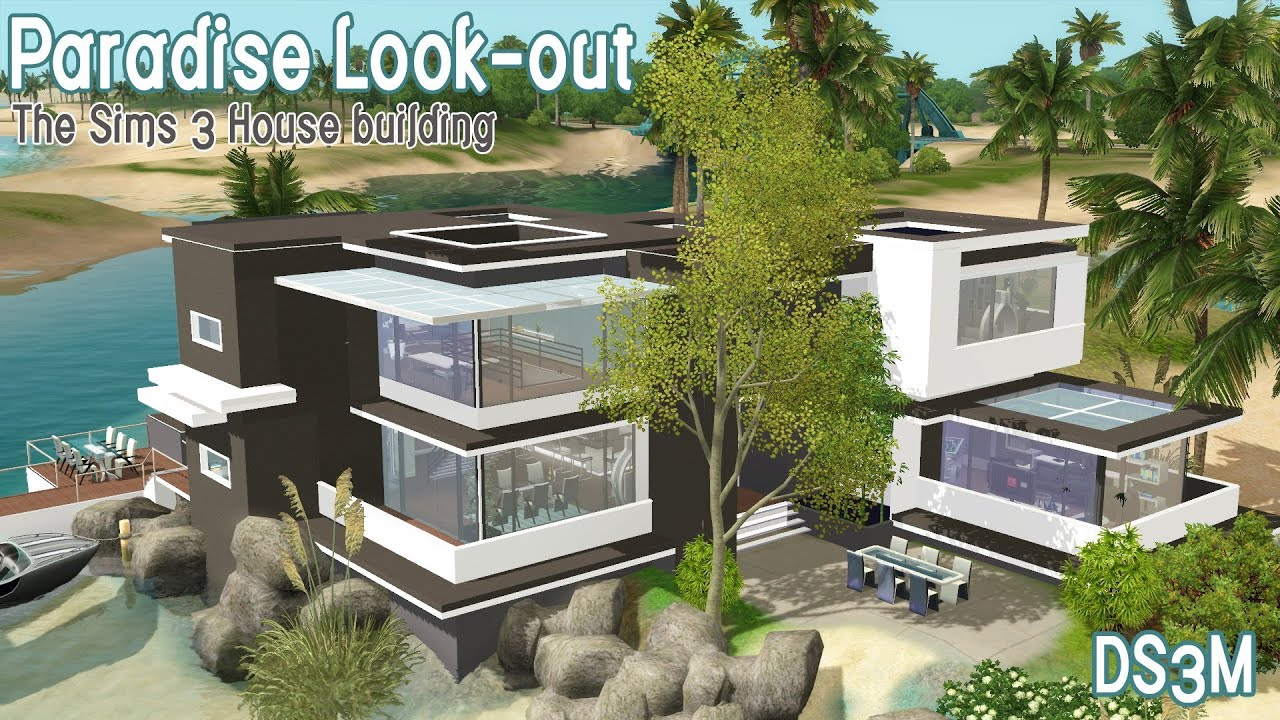 The Sims 3 House Building Paradise Look Out Youtube