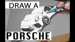 How to draw a PORSCHE 911 GT3